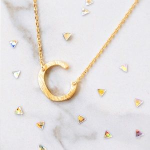 "Jewelry - Letter ""C"" Initial Gold Dainty Necklace"